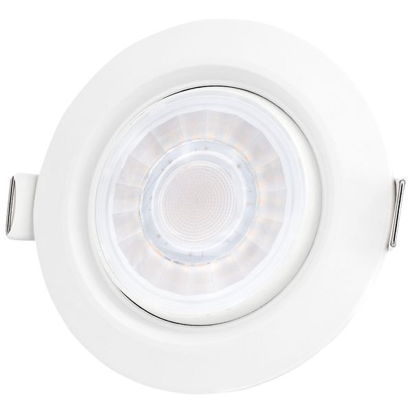 Schwenkbarer LED-Einbaustrahler weiß, IP44, 8W LED dimmbar, warm weiß – Bild 2