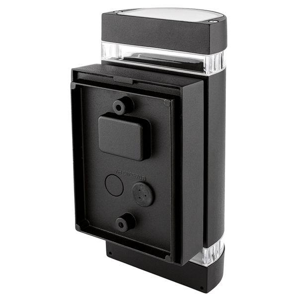 LED Außen Wandleuchte Up & Down IP44 inkl. 2x LED GU10 5W warmweiß 230V in schwarz halbrund – Bild 2