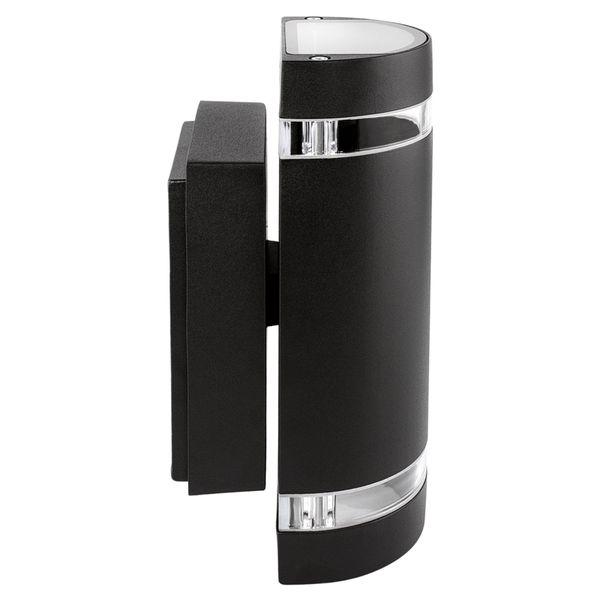 LED Außen Wandleuchte Up & Down IP44 inkl. 2x LED GU10 5W warmweiß 230V in schwarz halbrund – Bild 3