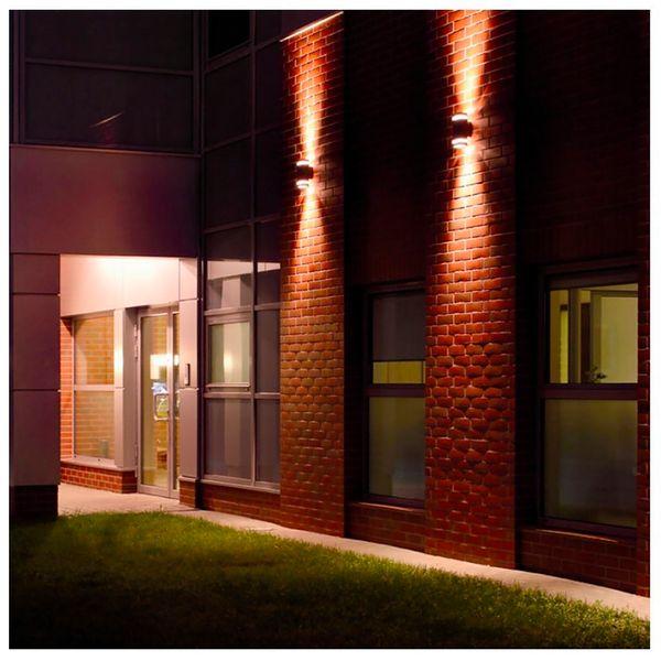 LED Außenwandleuchte Up & Down Wandlampe IP44 silber grau inkl. 2x LED GU10 5W warmweiß 230V – Bild 5