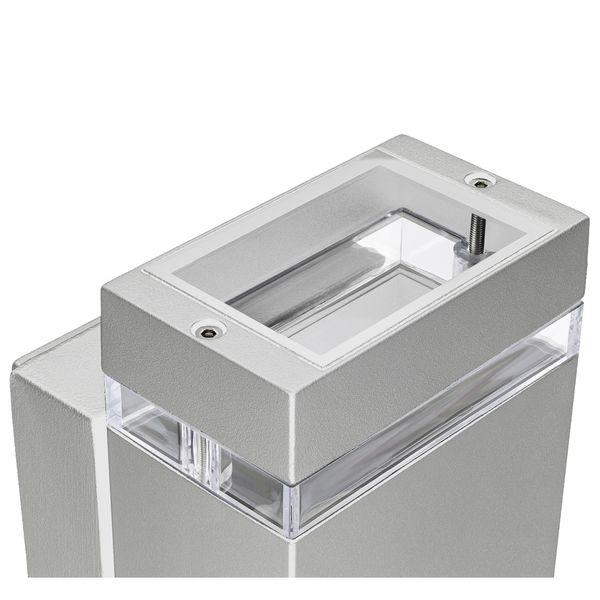 LED Außenwandleuchte Up & Down Wandlampe IP44 silber grau inkl. 2x LED GU10 5W warmweiß 230V – Bild 4