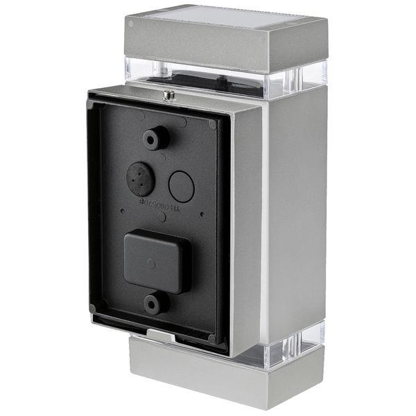 LED Außenwandleuchte Up & Down Wandlampe IP44 silber grau inkl. 2x LED GU10 5W warmweiß 230V – Bild 3