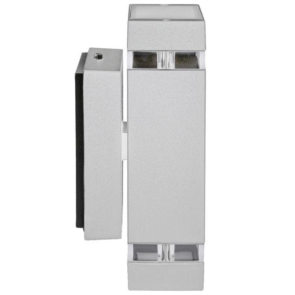 LED Außenwandleuchte Up & Down Wandlampe IP44 silber grau inkl. 2x LED GU10 5W warmweiß 230V – Bild 2