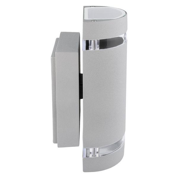 Wandlampe up&down Außen-Wandleuchte Aufbau-Leuchte Alu IP44, grau, inkl. 2 LED 5W, 230V GU10, neutral weiss – Bild 2