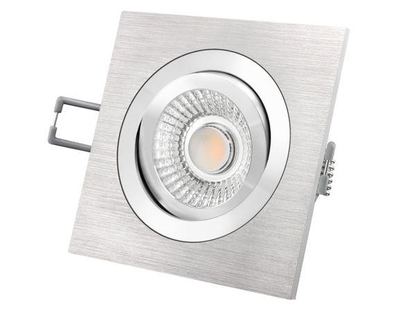 QF-2 Alu LED-Einbauspot flach schwenkbar inkl. LED Modul 230V, 15W, warm weiß 3000K dimmbar Stückzahl: 1er Set