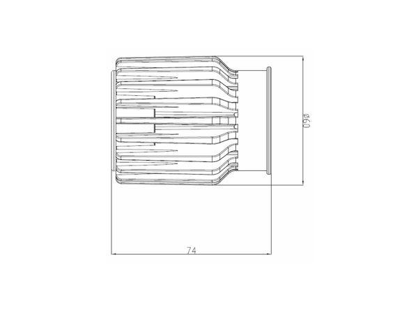 RF-2 LED-Einbauspot rund flach Alu schwenkbar inkl. LED-Modul 230V, 15W, warm weiß 3000K dimmbar – Bild 7