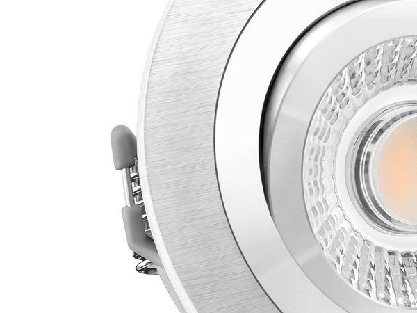 RF-2 LED-Einbauspot rund flach Alu schwenkbar inkl. LED-Modul 230V, 15W, warm weiß 3000K dimmbar – Bild 4