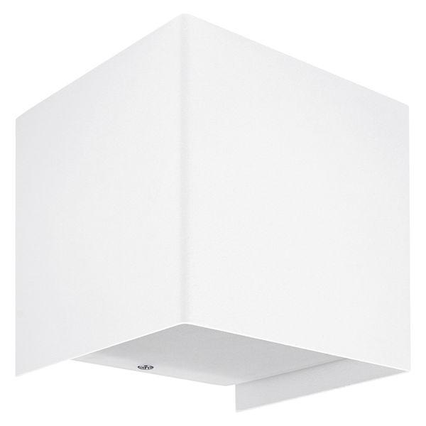 up&down Wand-Aufbau-Leuchte CUBE weiß mit LED G9 2W warm weiß 2700K – Bild 1