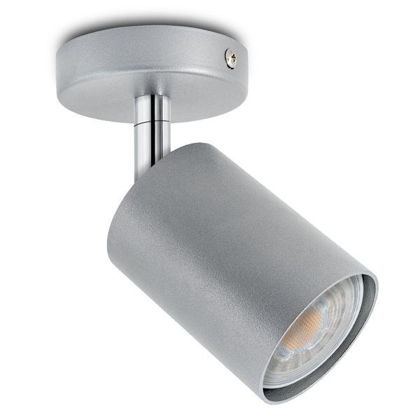 1er Deckenstrahler Eye Spot silber, inkl. LED 5W warm weiß 2700K