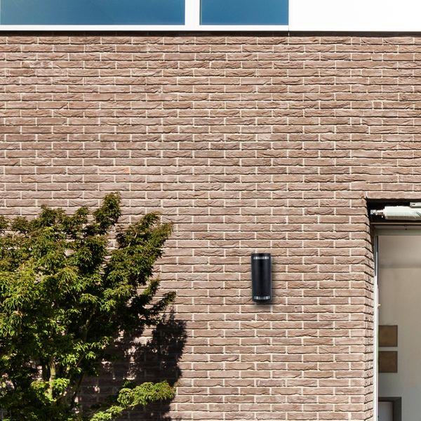 Wandleuchte up&down Außen Wandstrahler IP44, schwarz inkl. 2x LED 5W, 230V GU10 warmweiß – Bild 5