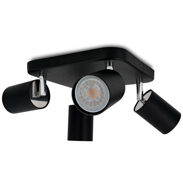 4er Deckenstrahler Eye Spot schwarz, inkl. 4 LED 5W warm weiß 2700K – Bild 3