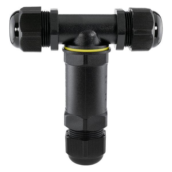 wCable Kabelverbinder T-Stück 5-polig für außen Erdkabel Ø 4-14 mm IP68 Wasserdicht – Bild 6