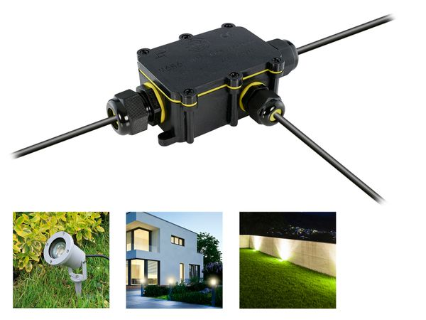 wCable Kabelverbinder Box 5-polig für außen Erdkabel Ø 5-12 mm IP68 Wasserdicht – Bild 1