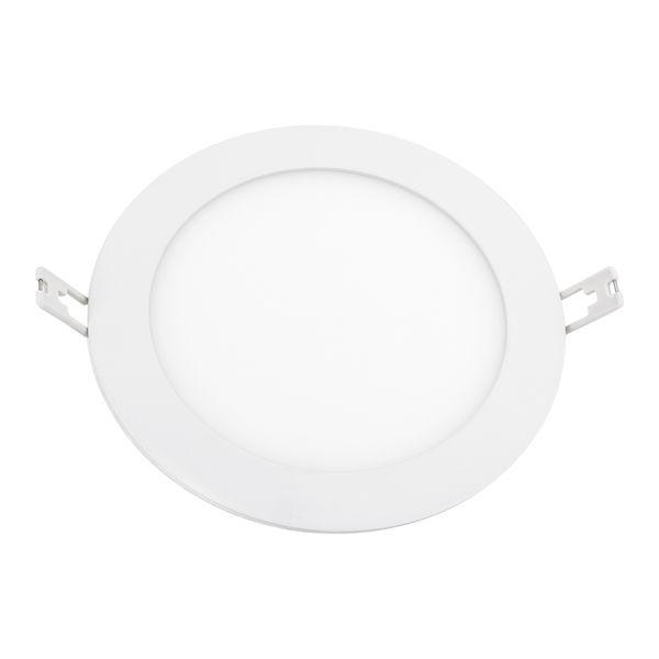 flache LED Deckenlampe Einbau-Panel - Einbauleuchte ROUNDA N weiß  LED SMD rund, 12W warm weiß, 230V IP44 – Bild 3