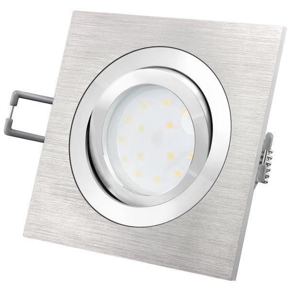 QF-2 Alu LED-Einbauspot flach schwenkbar inkl. fourSTEP Dim LED Modul FM-2 230V, 5W, neutralweiß 4000K