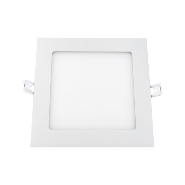 flaches LED Deckeneinbau-Panel - KATRO N weiß quadratisch, 12W warm weiß, 230V IP44 – Bild 3