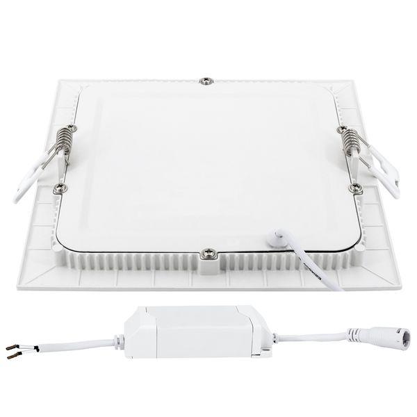 flaches LED Deckeneinbau-Panel - KATRO N weiß quadratisch, 18W warm weiß, 230V IP44 – Bild 4