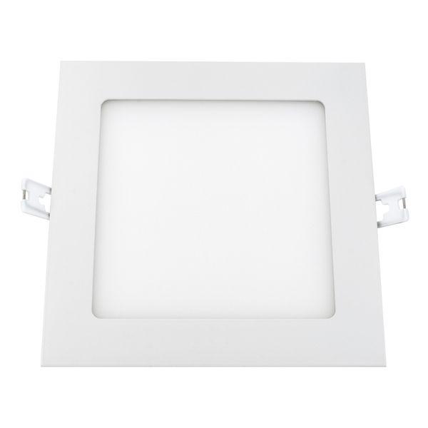flaches LED Deckeneinbau-Panel - KATRO N weiß quadratisch, 18W warm weiß, 230V IP44 – Bild 3