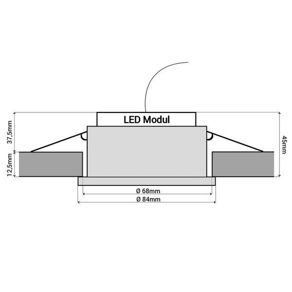 RW-1 flache LED-Einbauleuchte Edelstahl gebürstet Optik IP65 inkl. fourSTEP Dim LED Modul FM-2 230V, 5W, neutralweiß 4000K  – Bild 9