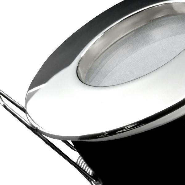 RW-1 Feuchtraum LED-Einbauspot flach chrom, IP65 inkl. fourSTEP Dim LED Modul FM-2, 230V, 5W SMD, neutralweiß 4000K  – Bild 7