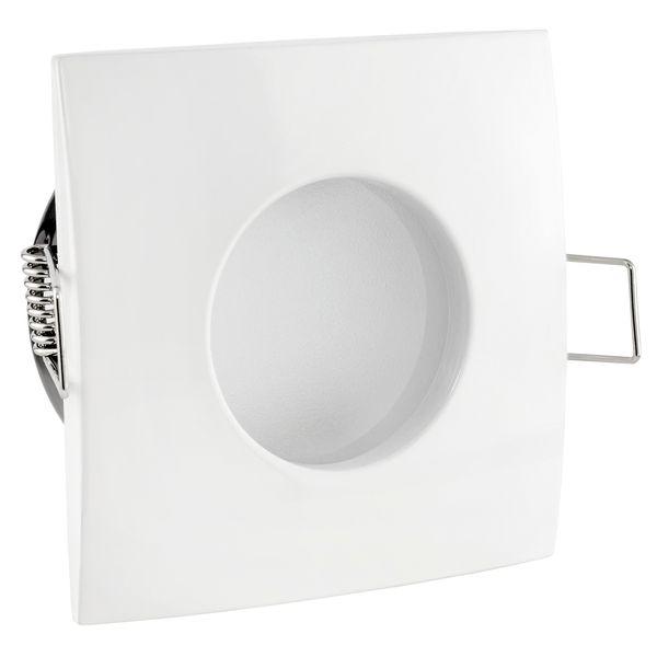 QW-1 flacher LED-Einbaustrahler weiss, IP65 inkl. fourSTEP Dim LED Modul FM-2, 230V, 5W SMD, warm weiß 2700K – Bild 5