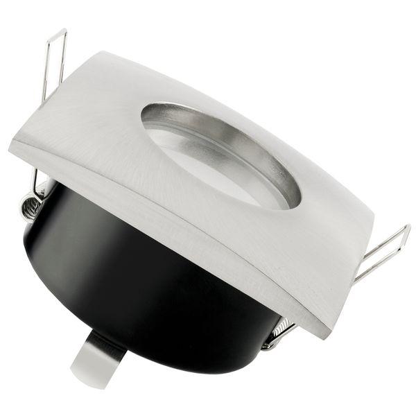 QW-1 flache LED-Einbauleuchte Edelstahl gebürstet IP65 inkl. fourSTEP Dim LED Modul FM-2, 230V, 5W SMD, neutralweiß 4000K
