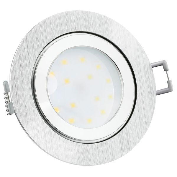 RW-2 LED-Einbauleuchte IP44 Alu flach rund inkl. fourSTEP Dim LED Modul FM-2, 230V, 5W SMD, neutralweiß 4000K  – Bild 2