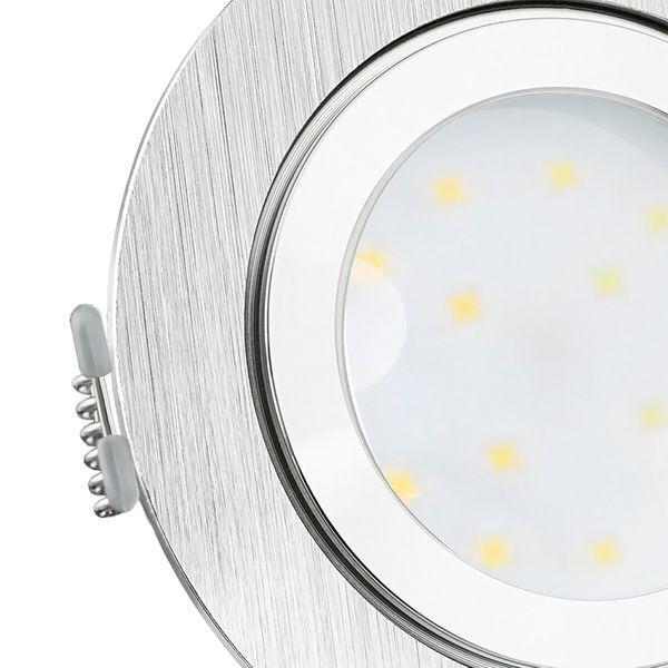 RW-2 LED-Einbauleuchte IP44 Alu flach rund inkl. fourSTEP Dim LED Modul FM-2, 230V, 5W SMD, neutralweiß 4000K  – Bild 6