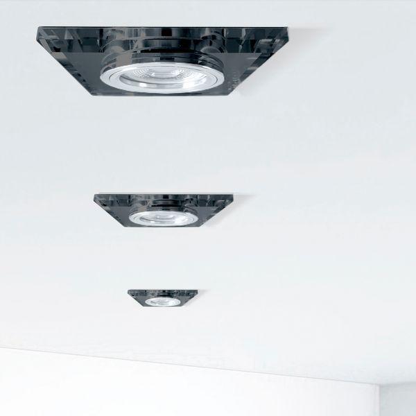 Flache Design Einbauleuchte aus Glas quadratisch schwarz spiegelnd, fourSTEP Dim LED Modul FM-2, 230V, 5W SMD, neutralweiß 4000K – Bild 2