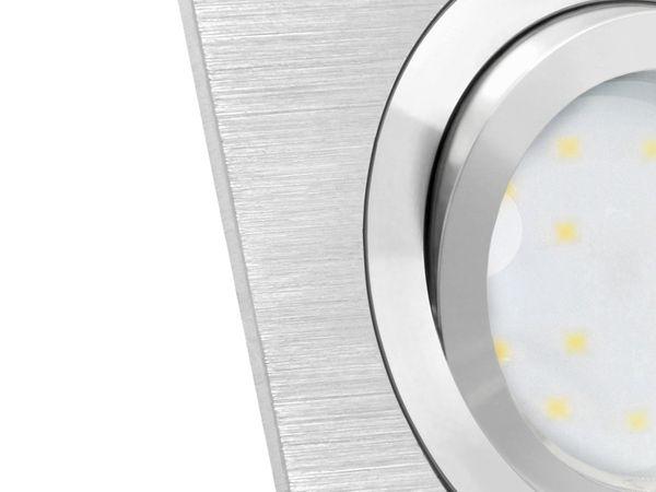 QF-2.3 flacher Alu LED-Einbaustrahler schwenkbar, 3 x fourSTEP Dim LED Modul FM-2, 230V, 5W SMD, neutralweiß 4000K – Bild 6