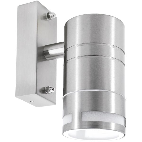 Außen-Wandleuchte Wandlampe Downlight Aufbauleuchte, IP44 Edelstahl, inkl. LED 5W 400 lm warmweiss