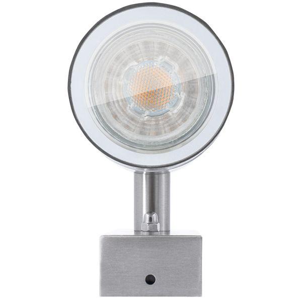 Außen-Wandleuchte Wandlampe Downlight Aufbauleuchte, IP44 Edelstahl, inkl. LED 5W neutralweiss – Bild 5
