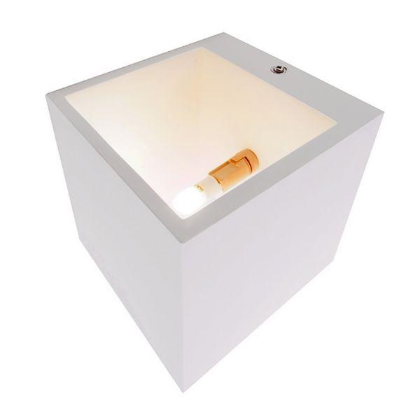 LED Wandleuchte Up & Down aus Gips überstreichbar inkl. OSRAM G9 Leuchtmittel 3,5W 2700K dimmbar – Bild 4