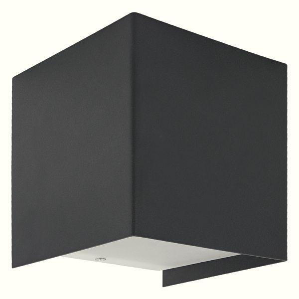 up&down Wand-Aufbau-Leuchte CUBE graphit, mit OSRAM LED G9 3,5W warm weiß 2700K dimmbar