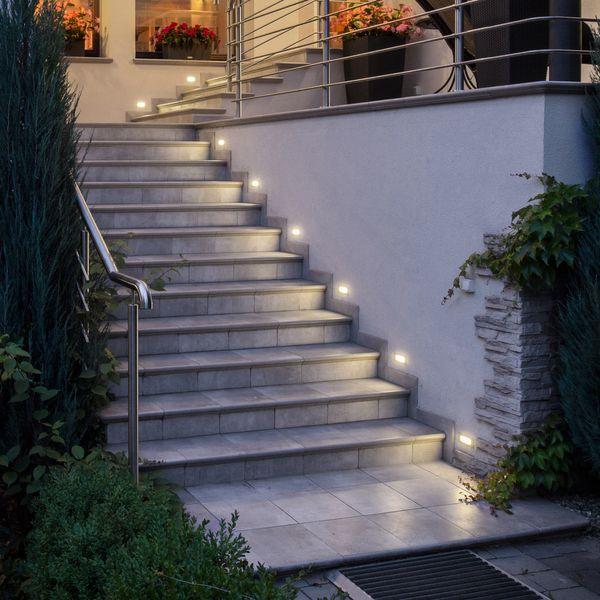 LED-Einbauleuchte Piko-S Boden Treppenleuchte 230V, Edelstahl, IP65, Lichtfarbe neutralweiß – Bild 3