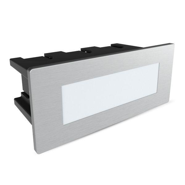 LED-Einbauleuchte Piko-S Boden Treppenleuchte 230V, Edelstahl, IP65, Lichtfarbe neutralweiß – Bild 1