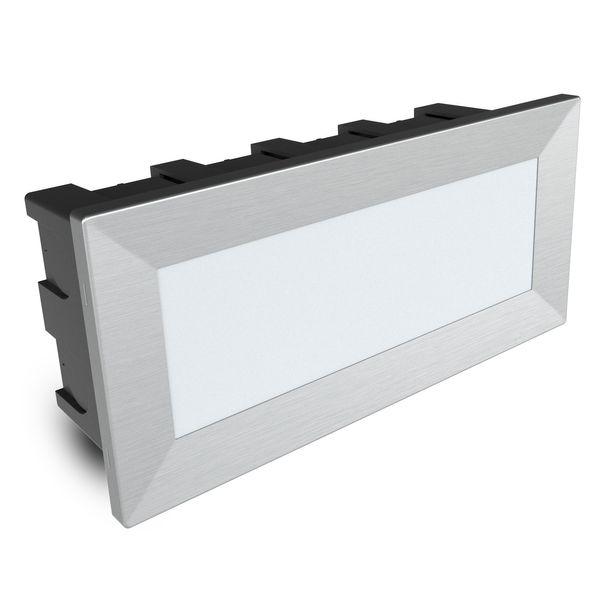 LED-Einbauleuchte Piko-L Boden Treppenleuchte 230V, Edelstahl, IP65, Lichtfarbe warmweiß – Bild 1