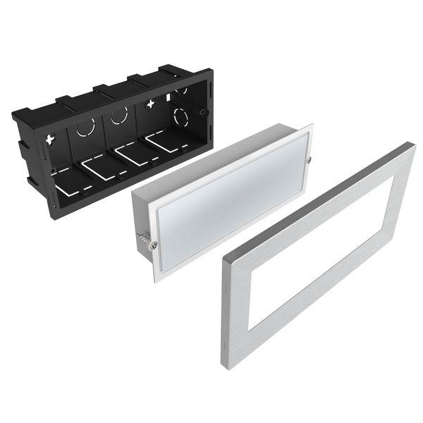 LED-Einbauleuchte Piko-L Boden Treppenleuchte 230V, Edelstahl, IP65, Lichtfarbe warmweiß – Bild 4