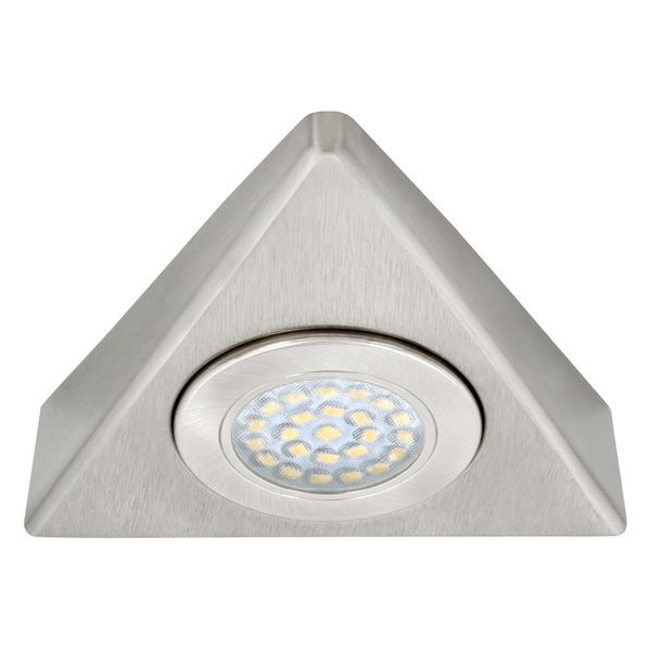 LED Unterbauleuchte Küchenleuchte Stahl gebürstet Dreieck 230V 1,5W, neutralweiß – Bild 3