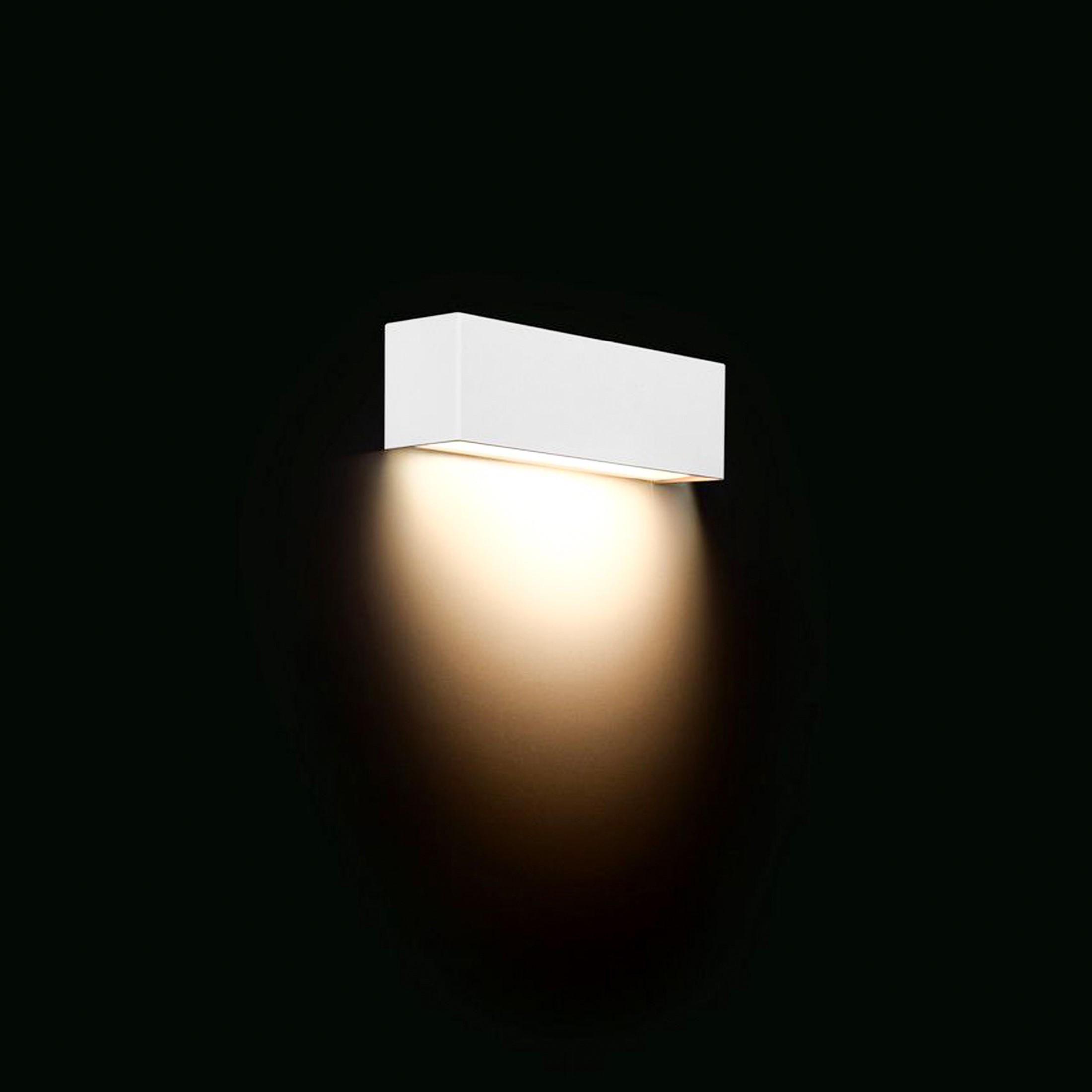 straight wall white xs wand aufbau leuchte mit led e14 3w warm wei 2800k. Black Bedroom Furniture Sets. Home Design Ideas
