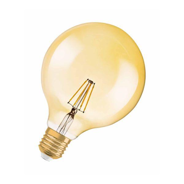nordlux SIV Marmor Pendelleuchte schwarz, Kabel schwarz inkl. OSRAM LED VINTAGE 1906 7W Globe E27 650 Lumen warm weiß – Bild 2