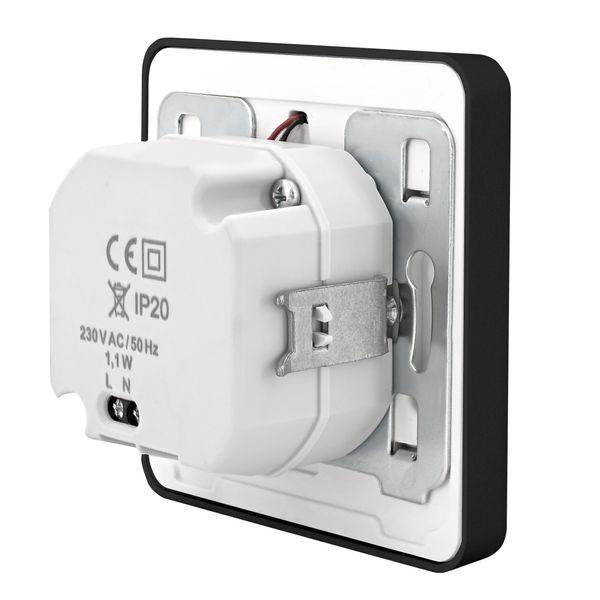 LED-Wandeinbauleuchte DEVA AC, schwarz, 1W 230V, IP20, Lichtfarbe warm weiß – Bild 6