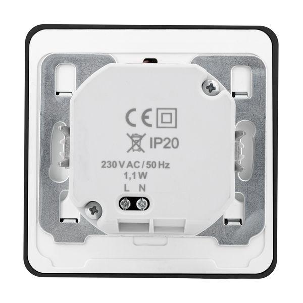 LED-Wandeinbauleuchte DEVA AC, schwarz, 1W 230V, IP20, Lichtfarbe warm weiß – Bild 8