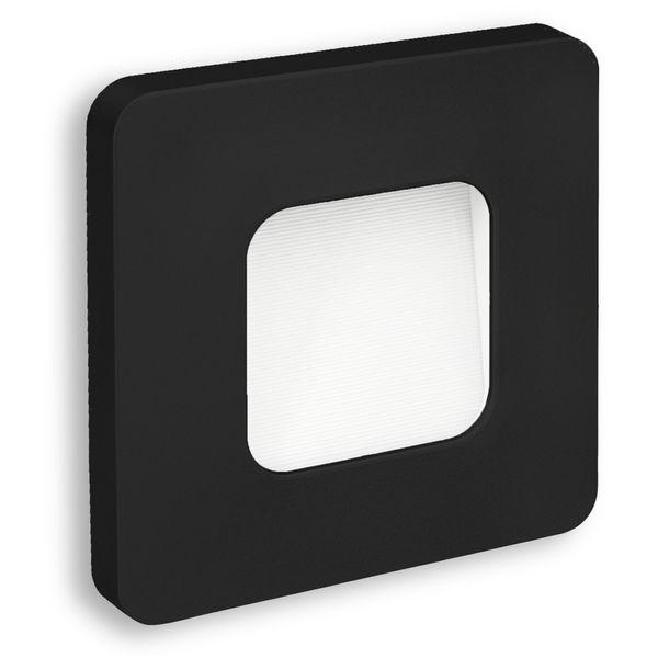 LED-Wandeinbauleuchte DEVA AC, schwarz, 1W 230V, IP20, Lichtfarbe warm weiß Stückzahl: 1er Set