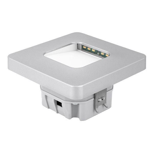 LED-Wandeinbauleuchte DEVA AC, silber, 1W 230V, IP20, Lichtfarbe warm weiß – Bild 6