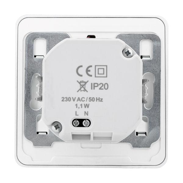 LED-Wandeinbauleuchte DEVA AC, silber, 1W 230V, IP20, Lichtfarbe warm weiß – Bild 8