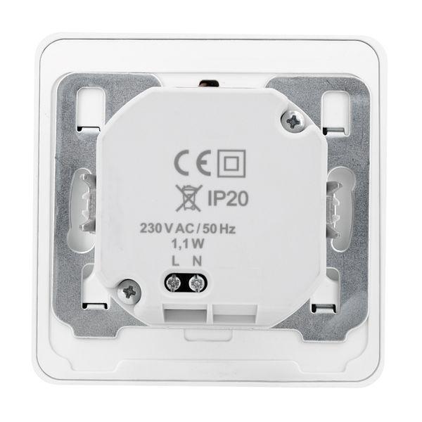 LED-Wandeinbauleuchte DEVA AC, weiß, 1W 230V, IP20, Lichtfarbe warm weiß – Bild 7