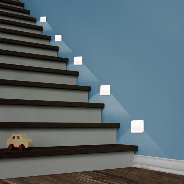 LED-Wandeinbauleuchte DEVA AC, weiß, 1W 230V, IP20, Lichtfarbe warm weiß – Bild 4
