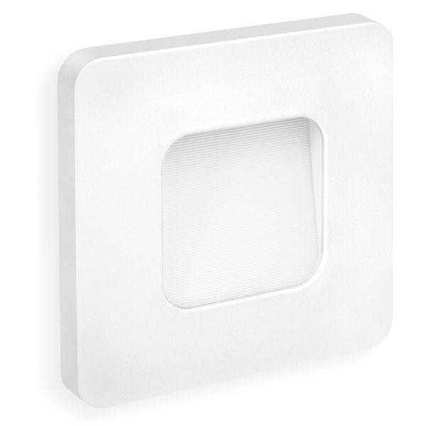 LED-Wandeinbauleuchte DEVA AC, weiß, 1W 230V, IP20, Lichtfarbe warm weiß Stückzahl: 1er Set