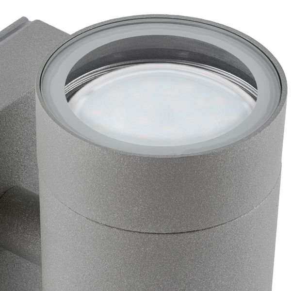 LED Wandleuchte Aussen Up & Down in anthrazit grau IP54 mit 2 GU10 LED 5W neutralweiß – Bild 2